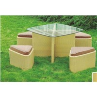 wicker furniture,rattan Dining Set (N207)