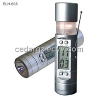 Digital Clock Radio with Torch Light and Siren