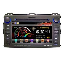In dash touch screen car DVD player for Toyota Prado