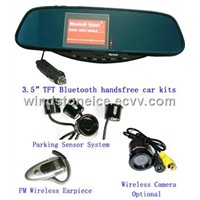 Rearview  Mirror handsfree rearview mirror 3.5 inch TFT Car Kit Camera