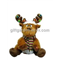 Singing Reindeer with Lighting up Horns