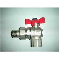 brass pipe union angle ball valve