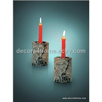 Cast Stone Candle Holder