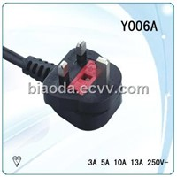 Fused Injection England Power Cord  (Y006A)