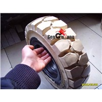 Solid Tire for Forklift -Coloured White