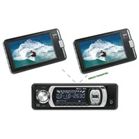 Car DVD Player with  Wireless AV Sender/Receiver & 2pcs Portable  Wireless AV Monitors (DVD-7622M)