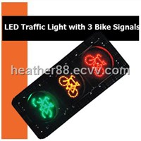 LED Traffic Light with 3 Bike Signals