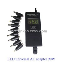 Universal Laptop AC Adapter with LED Display / Universal Adapter