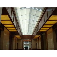 Double Motors Double Tracks Folding Skylight Shade