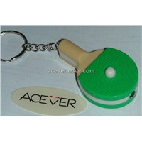 Table Tennis Shaped Keychain