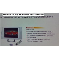 "15"" LCD TV/ Audio/ PC Monitor 3 in 1 NSK"