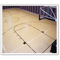 Basketball Sports Flooring with wood grain pattern