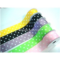 Dot Printed Grosgrain Ribbon (ld01475)