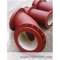 ceramic lined  steel pipes-elbow