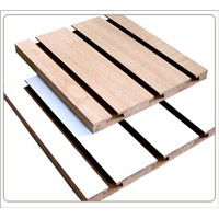 melamined slotted mdf board