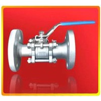 3 pieces flanged ball valve