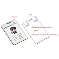 DV009 ID card type micro-recorder/camera/recorder