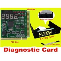 ISA and PCI Diagnostic Card with 3.5 Black Color bay