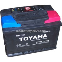 Maintenance Free Car Batteries -12V74AH
