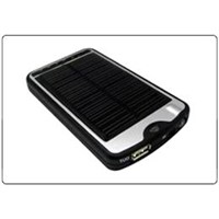 Portable Solar Mobile Charger with LED Flashlight