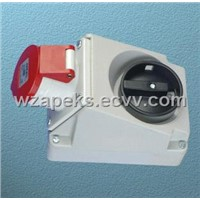 Switched Interlocked Socket-Wall Mounting (Ap9514-6)