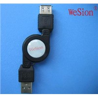 USB AM TO USB AF data Retractable Cable