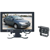 Waterproof 7-Inch Car Rear-View System with Color LCD Monitor and Built-in Quad Image