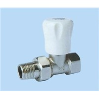 Brass Chrome Plated Females-Male Stop Valve with Loose Joint