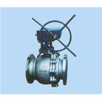 casting steel flanged worm-gear ball valve