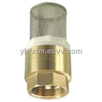 brass check valve with ss filter