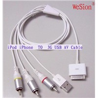 iPod iPhone 3G AV Cable