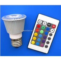 JDR E27 RGB LED Spot Light with Remote Controller