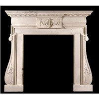 Marble hand carved stone fireplace