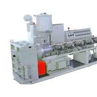 PP, PE, PC, PVC Plastic Hollow Cross Section Plate Extrusion Line
