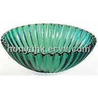 Transparent Handicraft Glass Basin (HJ96110)