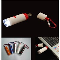USB Powered Flashlight Keychain