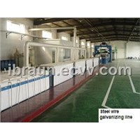 hot dip galvanizing steel wire production line