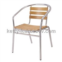 outdoor furniture-aluminum wooden chair