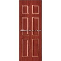 6 Panel PVC Coated Steel Door
