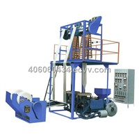 Double-Die Head Film Blowing Machine / Plastic Extruder