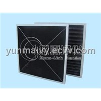 Honeycomb-shaped activated carbon filter mesh