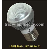 LED Globe 01(3 LED) Bulbs type LED