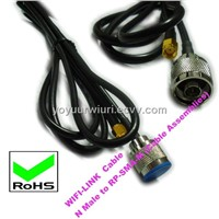 RF Cables, Cable Assembly (N Male to RP-SMA-M)