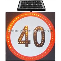 Solar Traffic Sign (AS-BW-STC-7a)