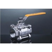 Stainless Steel 3pcs Type with Internal Thread Ball Valve
