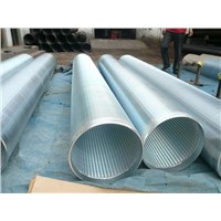 Strainers Pipe or continous slot v wire Water Well Screen