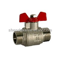 Water Ball Valves with m/m Thread with Butterfly Handle
