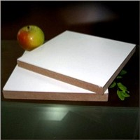 White melamine faced board