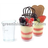 Plastic PS Sweets Desserts Cups Bowls with Lids (Covers)