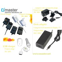 power adapter for LCD monitor or TV display  18~200W